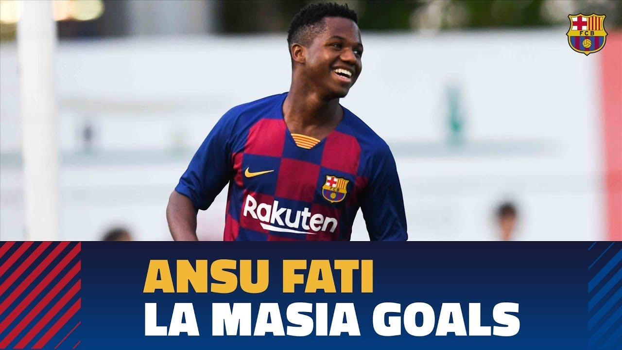 Ansu Fati A Selection Of His Goals With The Barca Youth Teams