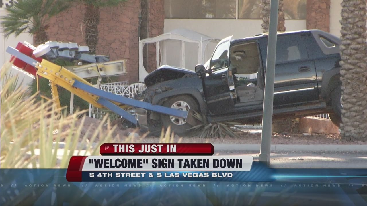 Welcome to Fabulous Downtown Las Vegas' sign destroyed in