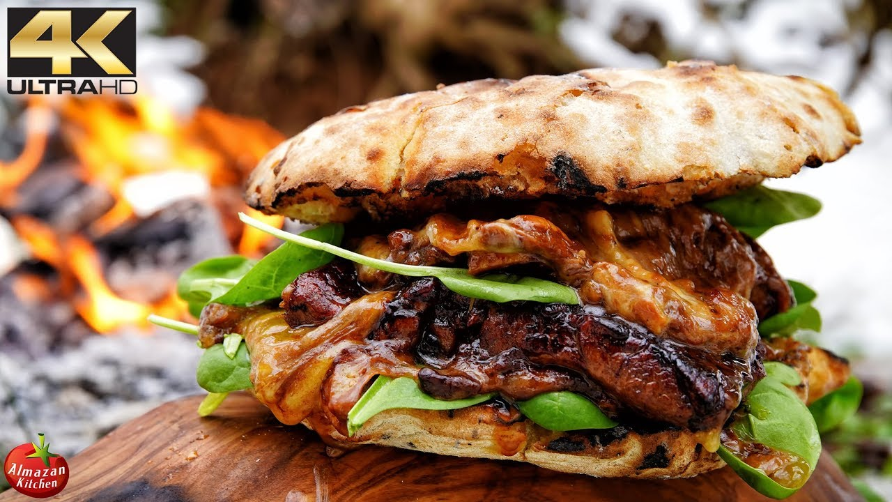 MOST UNUSUAL STEAK BURGER YOU WILL EVER SEE! - YouTube