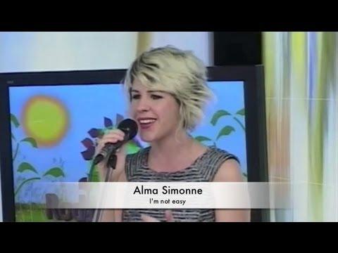 Alma Simonne - I'm Not Easy on TV