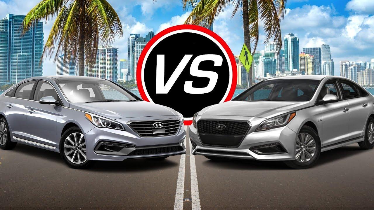 2016 Hyundai Sonata Eco Turbo Vs Hybrid Spec Comparison