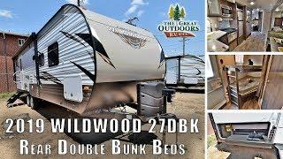New 2019 WILDWOOD 27DBK Double Bunks Beds Front Queen Trailer RV Colorado Dealer