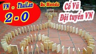 Xếp Domino cổ vũ đội tuyển Việt Nam | Be HOnda