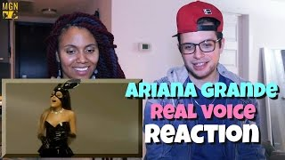 Ariana Grande - Real Voice (Without Auto-Tune) Reaction
