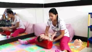 Ejercicios de estimulación para bebés de 3 a 6 meses.