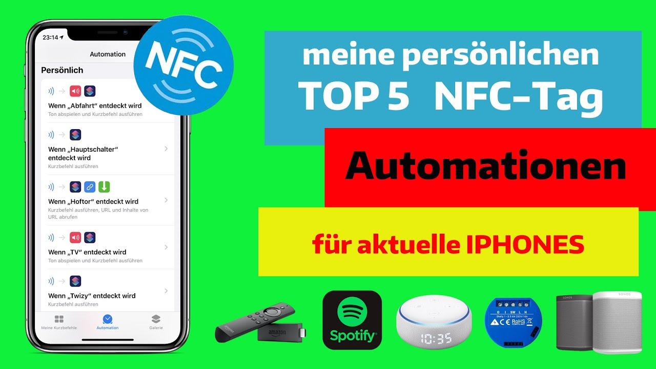 Meine TOP 5 Automationen fürs Iphone mit NFC-Tags! Inkl. Alexa-Ansagen und Shelly-Steuerungen.