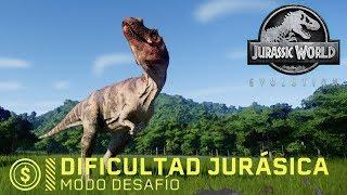 Jurassic World EVOLUTION - NUESTRO PRIMER CARNÍVORO DEL DESAFÍO JURÁSICO - JWE GAMEPLAY ESPAÑOL #17