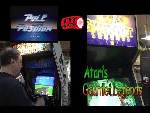 #941 Atari POLE POSITION & GAUNTLET LEGENDS Arcade Video Games & some Tips! TNT Amusements