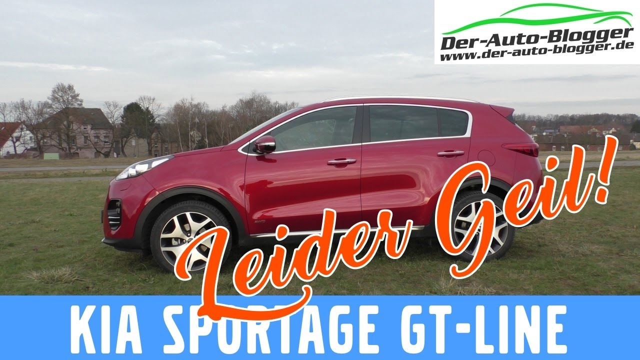 kia sportage gt line awd 1 6 t gdi 177 ps test review und fahrbericht. Black Bedroom Furniture Sets. Home Design Ideas