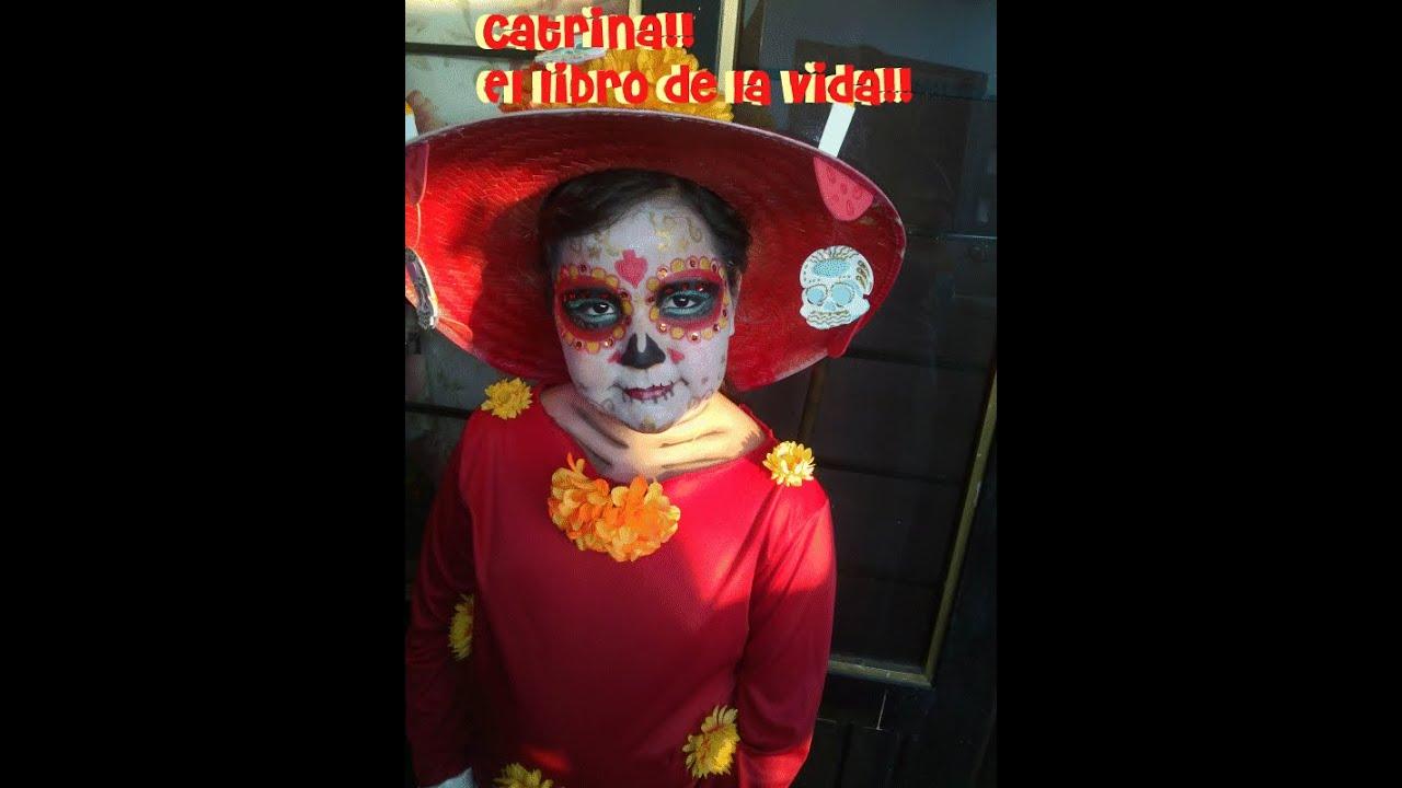 Maquillaje Catrina de la pelicula El libro de la vida, para niñas the book  of life