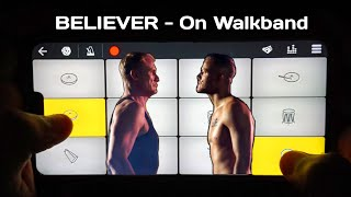 Download lagu BELIEVER Cover In Walkband | Piano + Drumming Cover By SB GALAXY