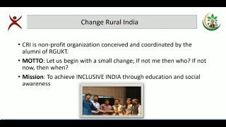 CRI Collaboration with RGUKTs | Vision for Education in Andhra Pradesh | | Upload by BHaskar VJ |