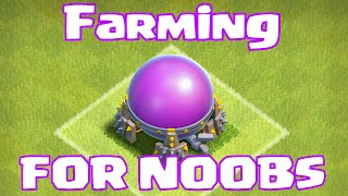Clash of clans FARMING FOR NOOBS (Godson learns to farm)