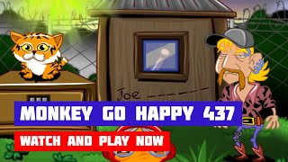 Monkey GO Happy: Stage 437 — Tiger King · Game · Walkthrough