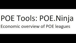 POE Tools: POE.Ninja - An overview of the POE economy