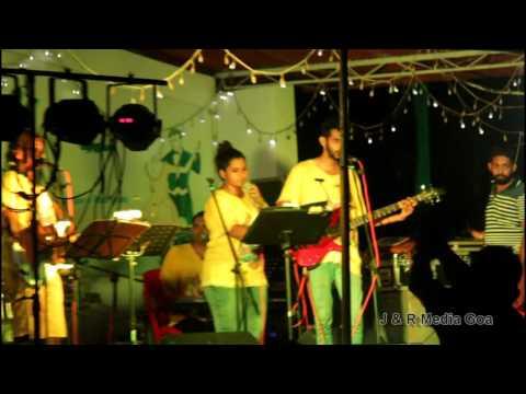 Goan Band ' Royal Status ' sing the song fireball at Sao Joao celebration in Mushroom Garden