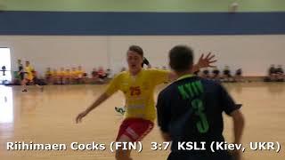 Handball. Riihimaen Cocks (FIN) - KSLI (Kiev, UKR). Viborg. U16 boys. Gr6. GENERATION HANDBALL-2018