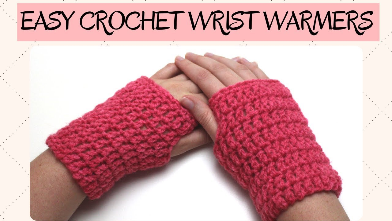 372ce97146b Easy Crochet Wrist Warmer - Crochet Gloves - YouTube