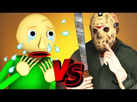 Baldi Vs Jason Voorhees  - The Movie (All Episodes Official Compilation Friday 13 3D Animation)