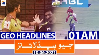 Geo Headlines 01 AM | 10th June 2021