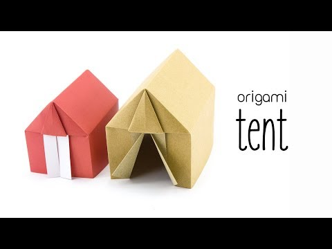 Origami Tent or House Tutorial - Paper Kawaii