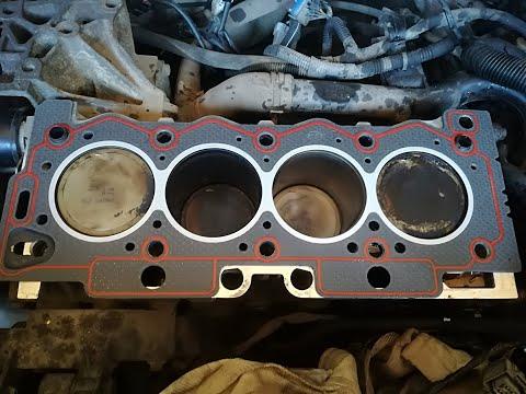 Ремонт двигателя пежо 1 4  Замена прокладки ГБЦ