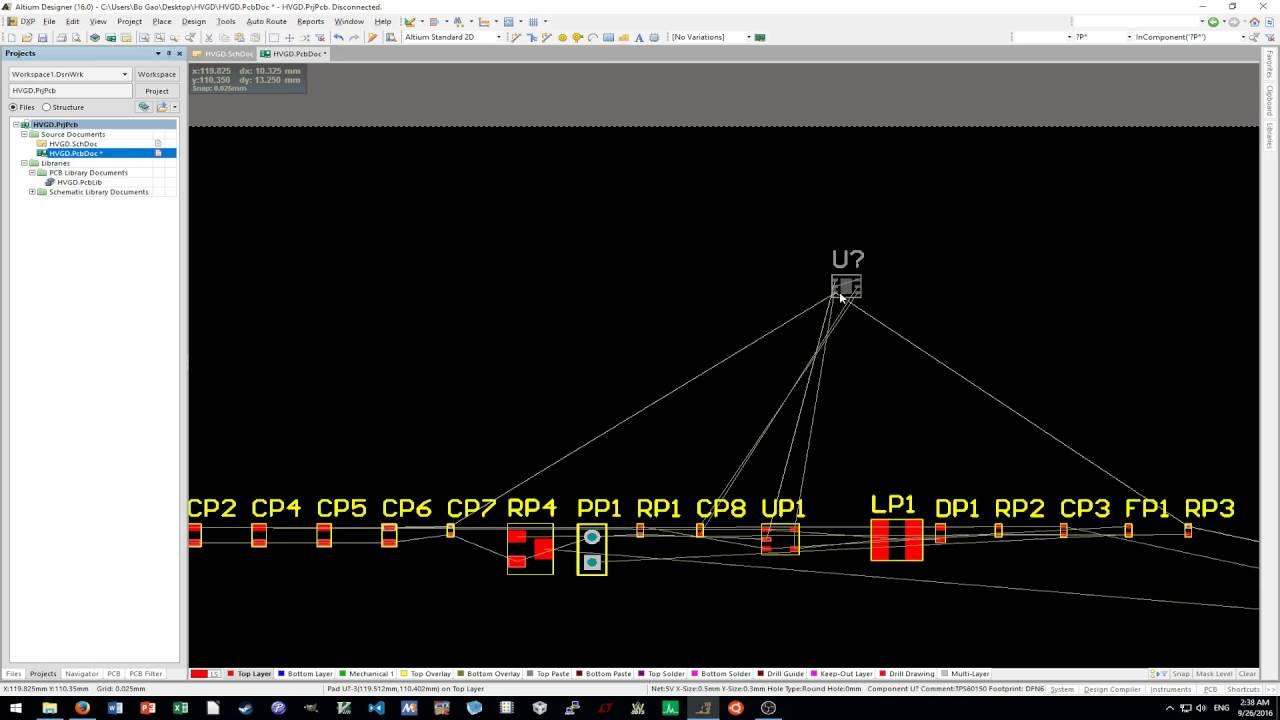 Altium Designer Tutorial 2 -- Placement, Layout and Gerber Generation