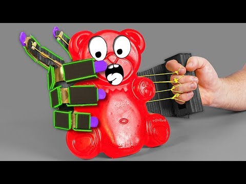 ROBOTIC ARM VS JELLY GUMMY BEAR
