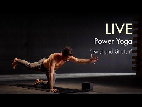 "90min. LIVE Power Yoga ""Twist and Stretch"" Class – 200K Subscriber Milestone!"
