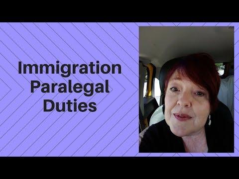 Immigration Paralegal Duties