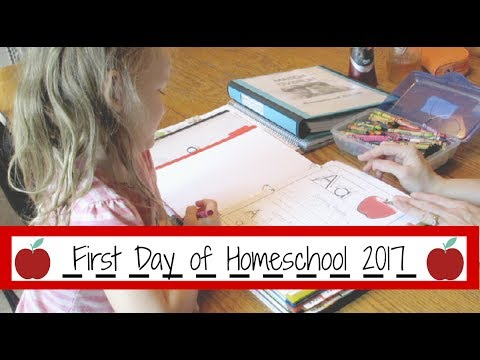 First Day of Homeschool 2017 (July 18, 2017 Vlog)