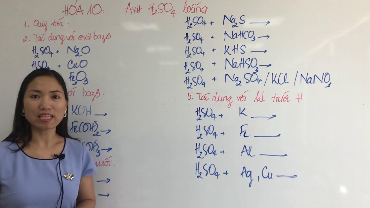 Tính Chất Hóa Học Của Axit Sunfuric Loãng - H2SO4 Loãng - Hóa 10