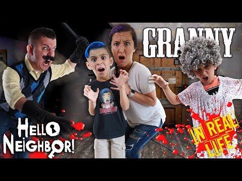 Hello Granny!! Granny and Hello Neighbor Horror Game In Real Life (FUNHouse Family) |