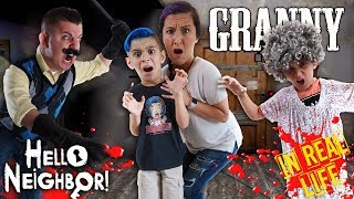 Hello Granny!! Granny and Hello Neighbor Horror Game In Real Life (FUNHouse Family)
