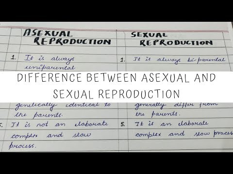 Similarities between asexual and sexual reproduction biology lab