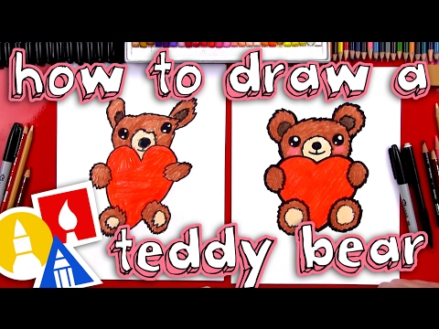 how-to-draw-a-teddy-bear-holding-a-heart