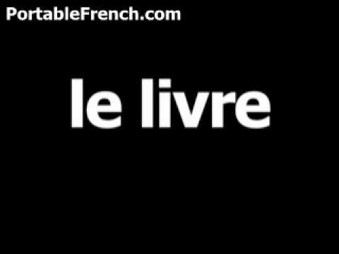French word for book is le livre