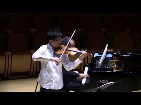 Dan Zhu - Claudio Trovajoli - R.Strauss - Violin Sonata op.18 Improvisation - Andante cantabile
