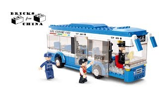 Lego analogue Sluban M38-B0330 City Bus - Lego Speed Build