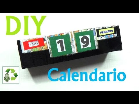 Calendario perpetuo reciclaje ecobrisa youtube for Calendario manualidades