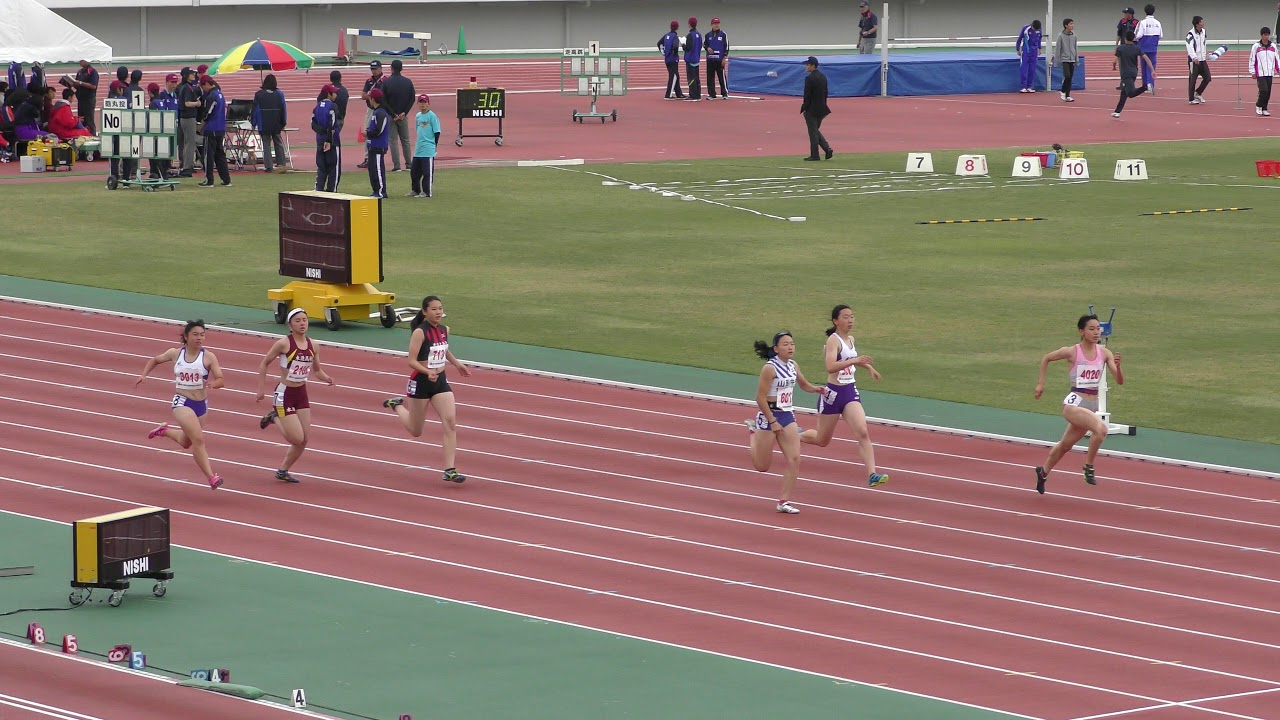 2018 東北高校陸上 女子200m 予選2組 - YouTube