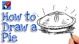 How to draw a pie Real Easy for kids and beginners