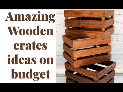 3 brilliant and creative  ideas to recycle wooden crates.