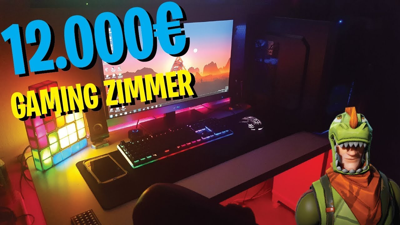 12000 Gaming Zimmer Room Tour Xxl Room Tour Mit Daxxter Youtube