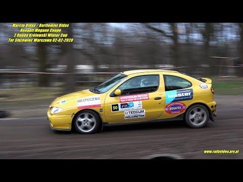 M. Bidas /B.Bidas -Renault Megane Coupe- 2 Runda KWC Królewski Winter Cup  Tor Służewiec 2020