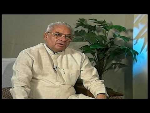 Rubaru: old interview Bhajan Lal with Rajeev Shukla