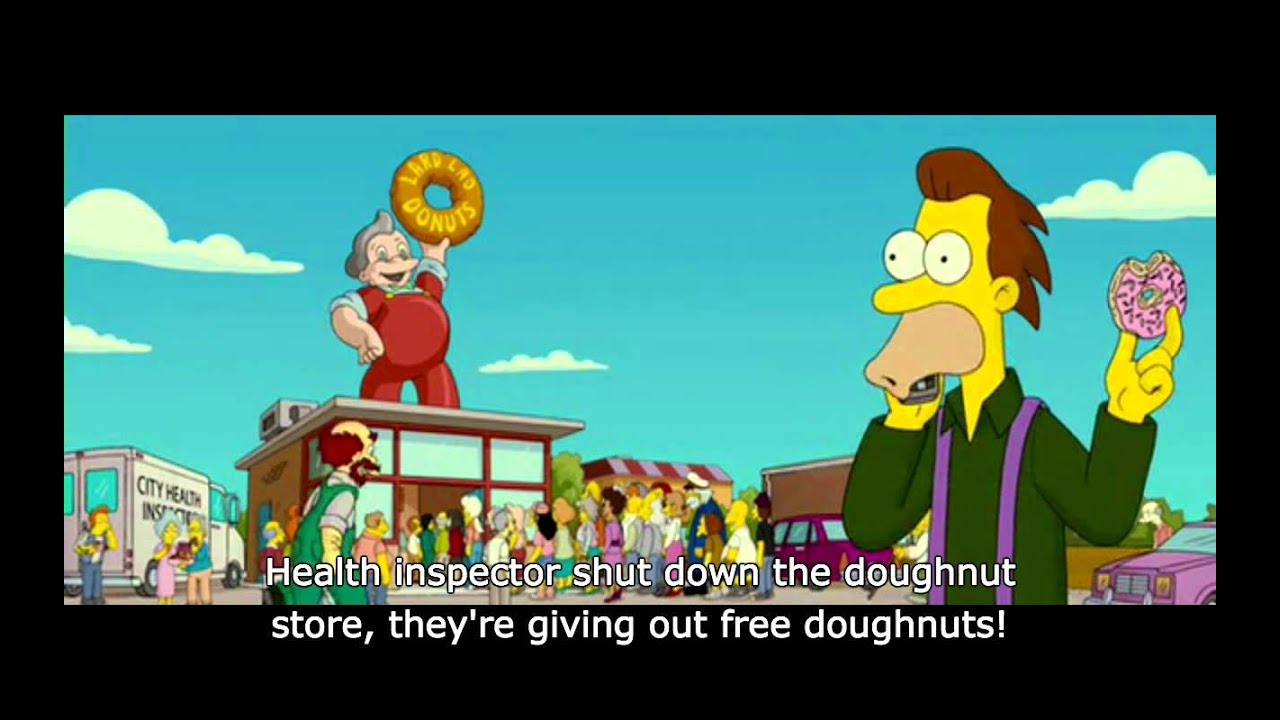 the simpsons movie free doughnuts youtube