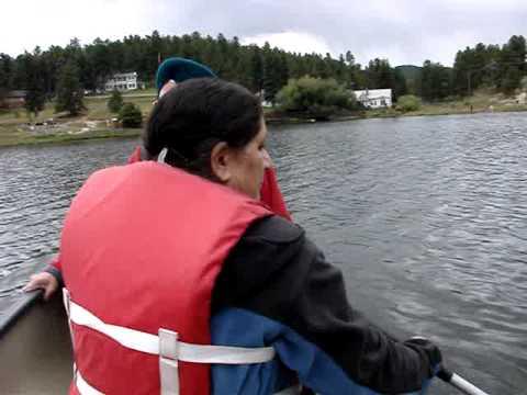 Boating in Evergreen Lake