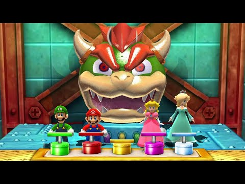 Mario Party The Top 100 MiniGames - Mario Vs Luigi Vs Peach Vs Rosalina (Master CPU)