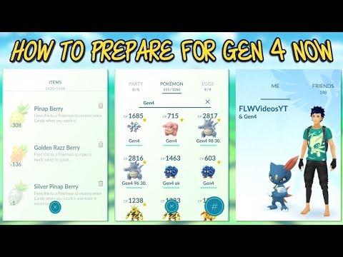 How To Prepare Now For Gen 4 Pokemon In Pokemon Go